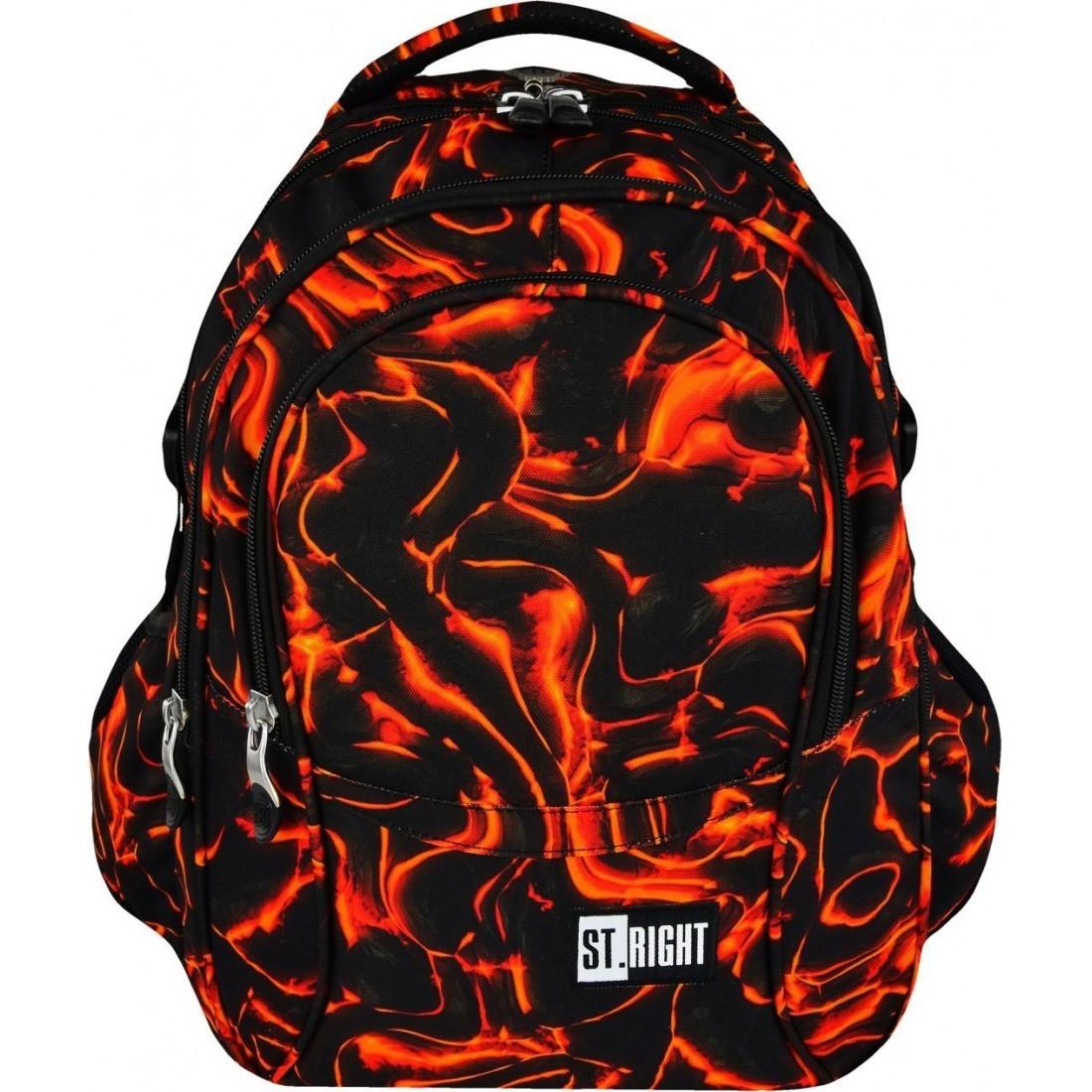 Plecak szkolny ST.RIGHT LAVA gorąca lawa BP01