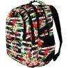 Plecak szkolny ST.RIGHT TROPICAL STRIPES kwiat hibiskusa dla nastolatek