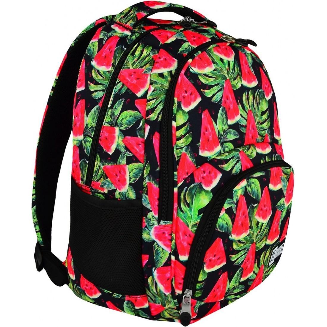 44e99857204ef Plecak szkolny 23 ST.RIGHT WATERMELON czerwony arbuz dla dziewczyn ...
