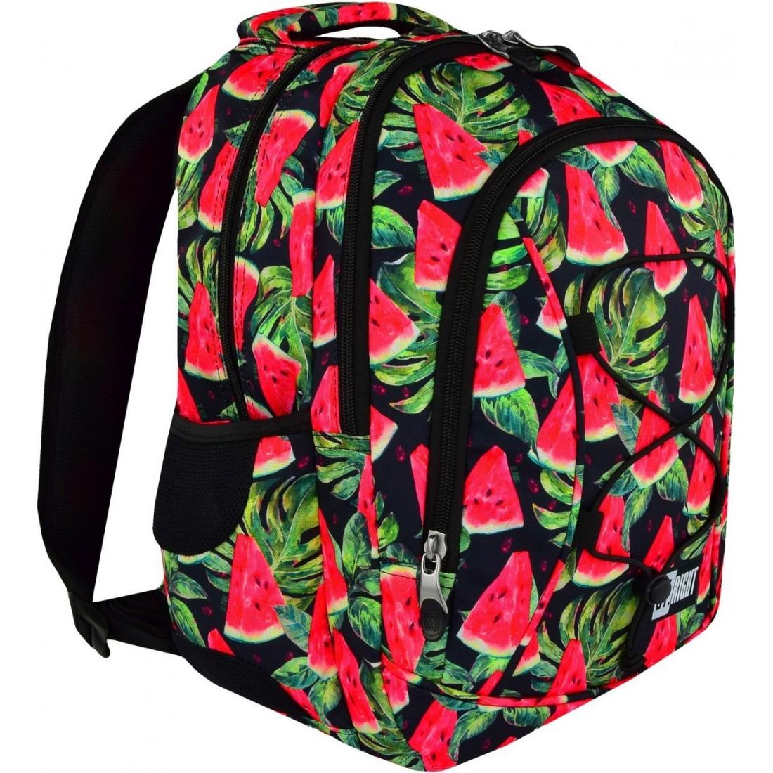 Plecak szkolny ST.RIGHT WATERMELON czerwony arbuz BP32