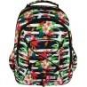 Plecak szkolny 32 ST.RIGHT TROPICAL STRIPES kwiat hibiskusa dla dziewczyn