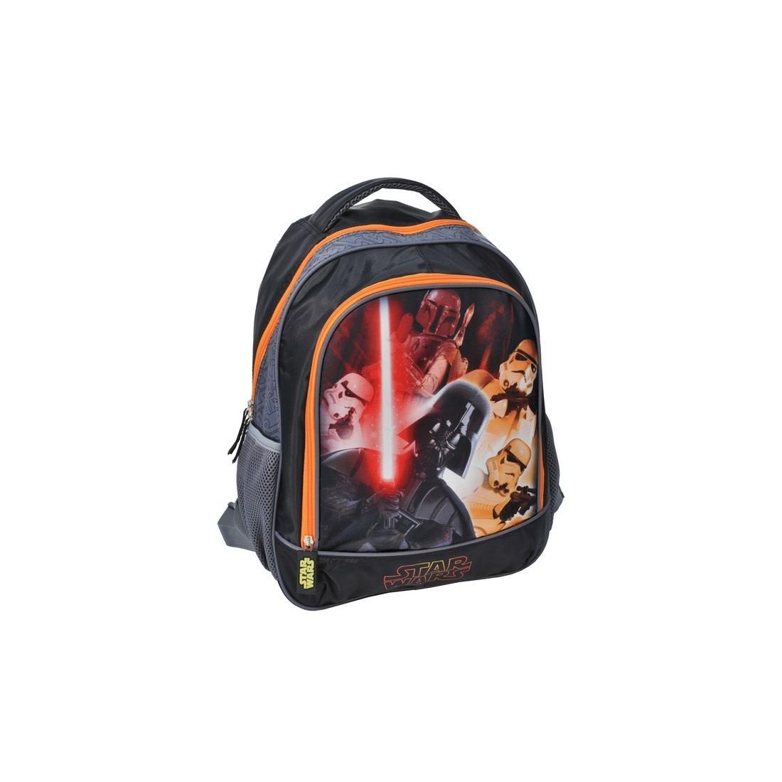 Plecak szkolny Star Wars z pomarańczowym zamkiem - plecak-tornister.pl