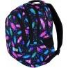 Plecak szkolny ST.RIGHT FEATHERS kolorowe piórka BP06