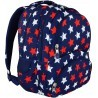 Plecak szkolny ST.RIGHT STARS białe i czerwone gwiazdy - BP07