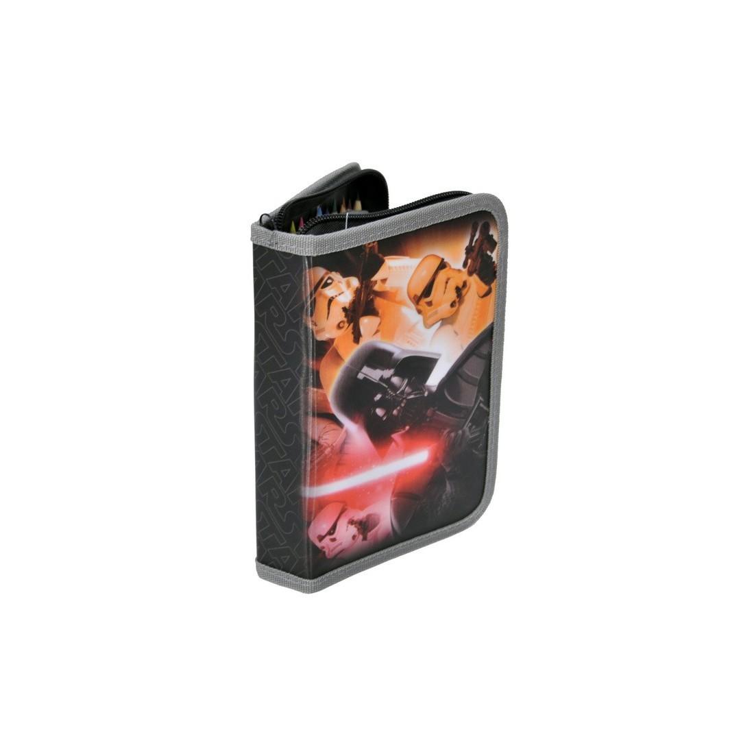 Piórnik z wyposażeniem Star Wars z szarą lamówką - plecak-tornister.pl