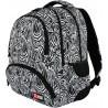 Plecak szkolny ST.RIGHT ZEBRA czarno-biały - BP07