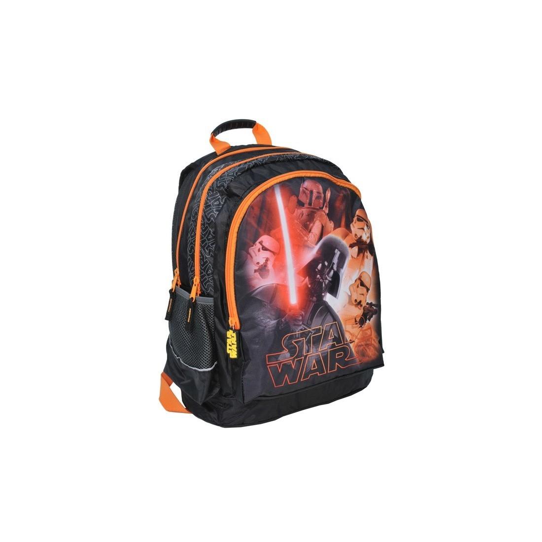 Plecak szkolny Star Wars z pomarańczowym zamkiem