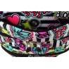 Plecak szkolny ST.RIGHT KISS & LOVE kolorowe emotikony i napisy - BP07