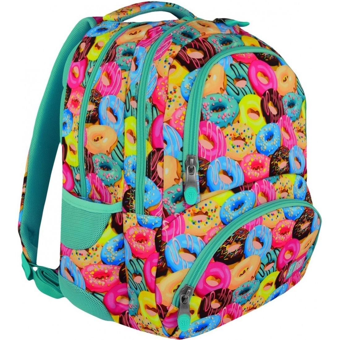 Plecak szkolny ST.RIGHT DONUTS kolorowe ciastkapączki