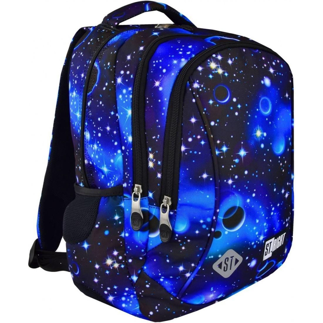 16e69f6007aa3 Plecak dla pierwszoklasisty ST.RIGHT COSMOS galaktyka niebieski HIT ...