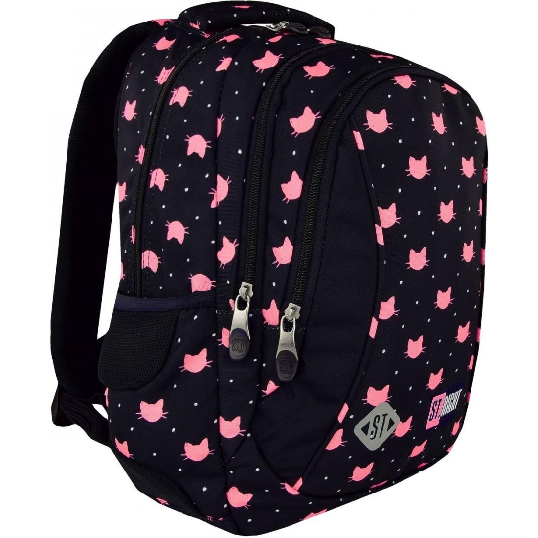 4c49808fbabce Plecak dla pierwszoklasisty ST.RIGHT MEOW różowe koty dla dziewczyn ...