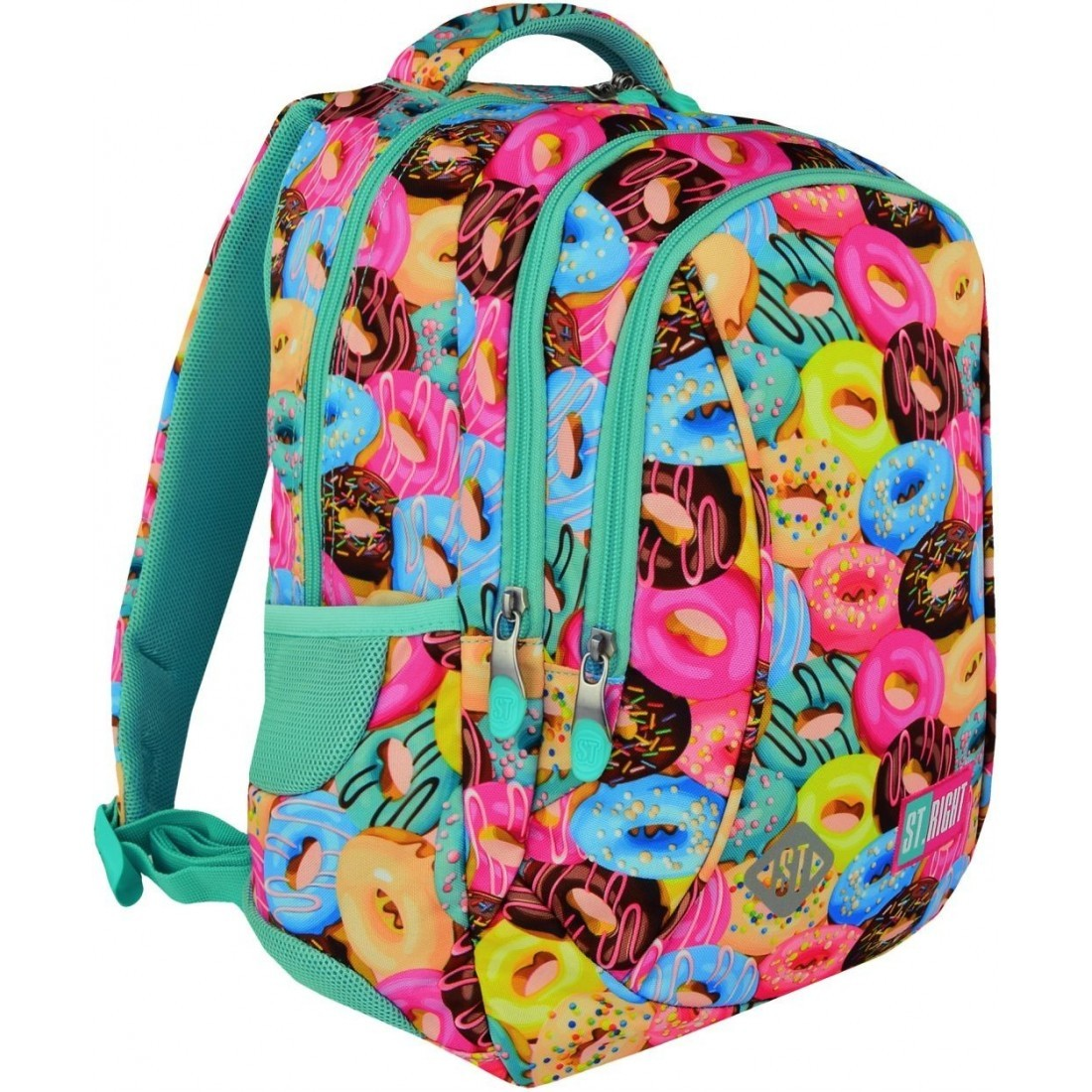 809948540b1a4 Plecak dla pierwszoklasisty ST.RIGHT DONUTS kolorowe pączki ciasteczka -  BP26