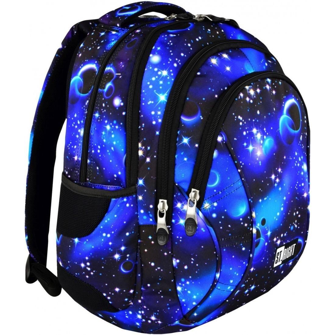 d8e9896b888a8 Plecak szkolny ST.RIGHT COSMOS galaktyka niebieski młodzieżowy HIT ...