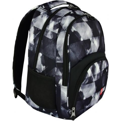 Plecak szkolny 23 ST.RIGHT WATERCOLOUR szare cienie trójkąty dla chłopaka