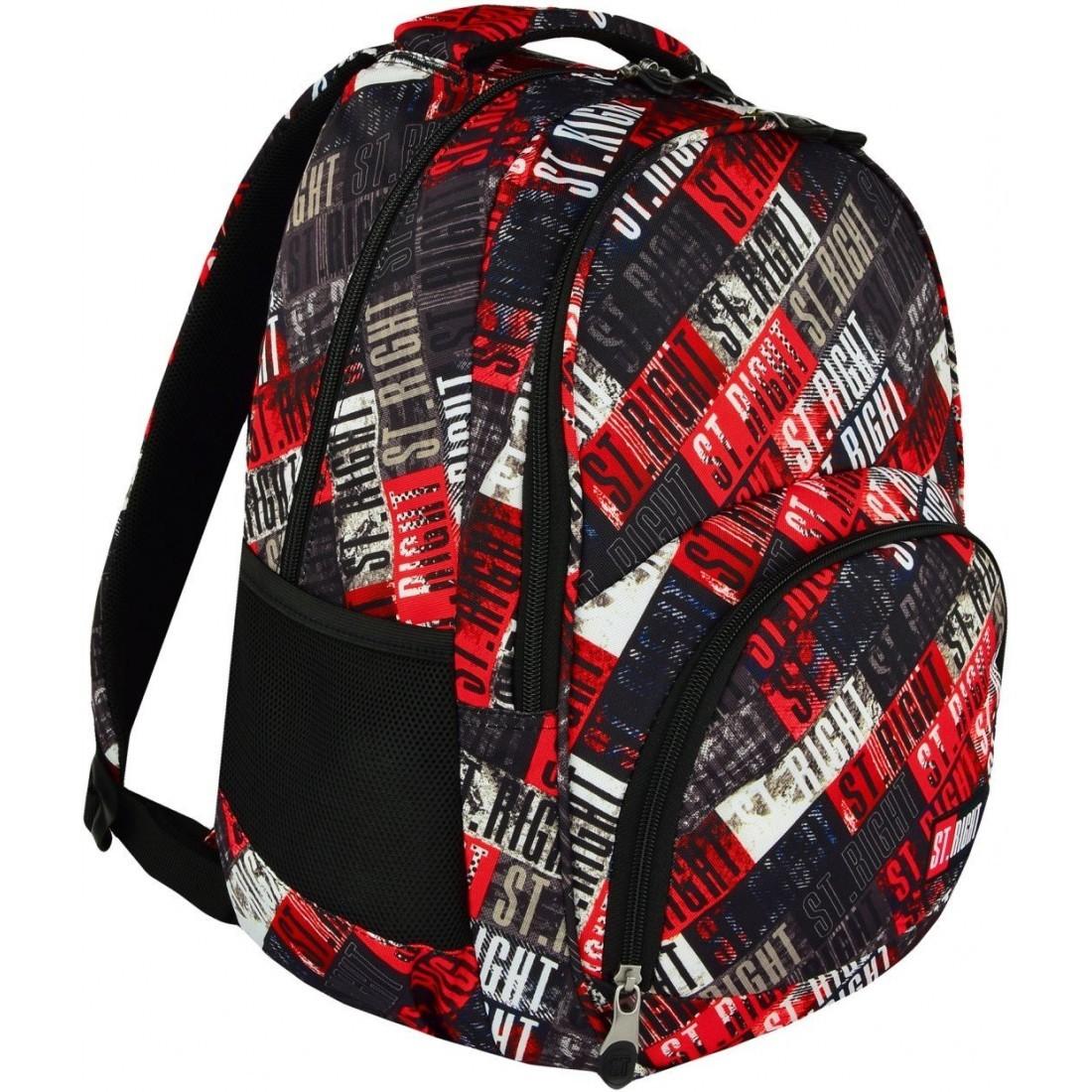 4f1427142c8c2 Plecak szkolny 23 ST.RIGHT ST.GRUNGE napisy fullprint młodzieżowy ...