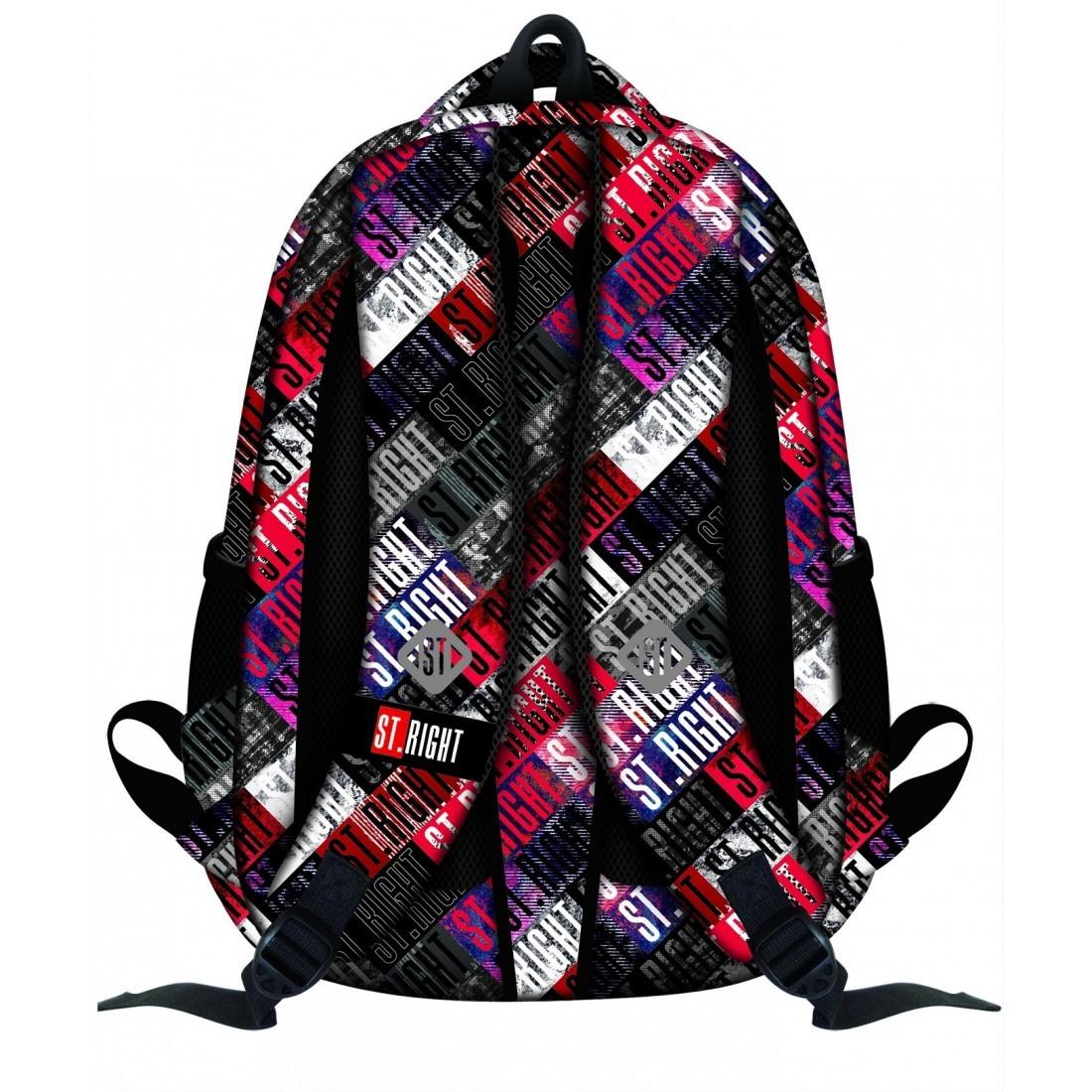 Plecak szkolny 23 ST.RIGHT ST.GRUNGE napisy fullprint młodzieżowy styl - plecak-tornister.pl