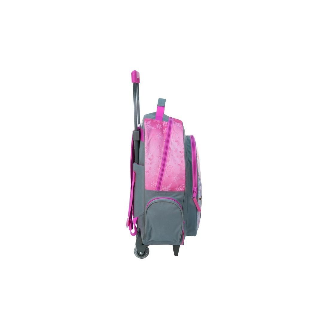 Plecak na kółkach Kraina Lodu, Frozen szaro różowy - plecak-tornister.pl
