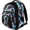 Plecak szkolny ST.RIGHT NET BLUE szaro-niebieskie figury - BP25