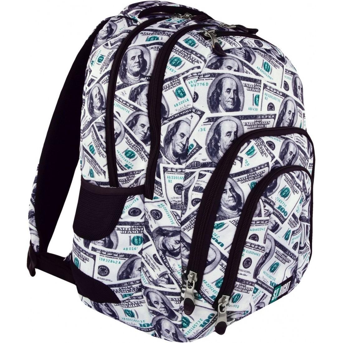 b91438aef0c1a Plecak szkolny ST.RIGHT DOLLARS dolary full print młodzieżowy HIT ...