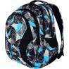 Plecak szkolny ST.RIGHT NET BLUE szare i niebieskie figury czarne zamki - BP02