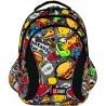 Plecak szkolny ST.RIGHT FAST FOOD hamburgery hot dogi - BP02