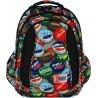 Plecak szkolny ST.RIGHT BOTTLE CAPS kolorowe kapsle - BP04