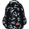Plecak szkolny ST.RIGHT 3Angle białe trójkąty na czarnym tle - BP04