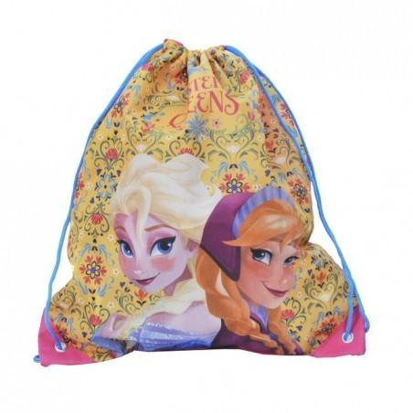 Worek szkolny Kraina Lodu żółto różowy Elsa i Anna