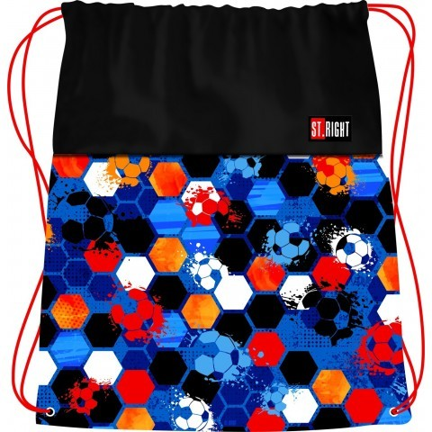 Worek na buty / na WF ST.RIGHT FOOTBALL kolorowe piłki mundial 2018