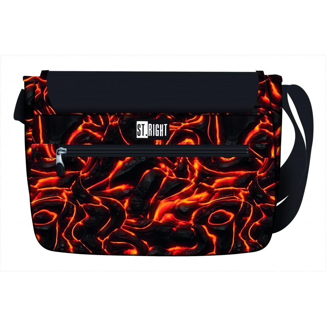 Listonoszka ST.RIGHT LAVA torba na ramię gorąca czerwona lawa SB01