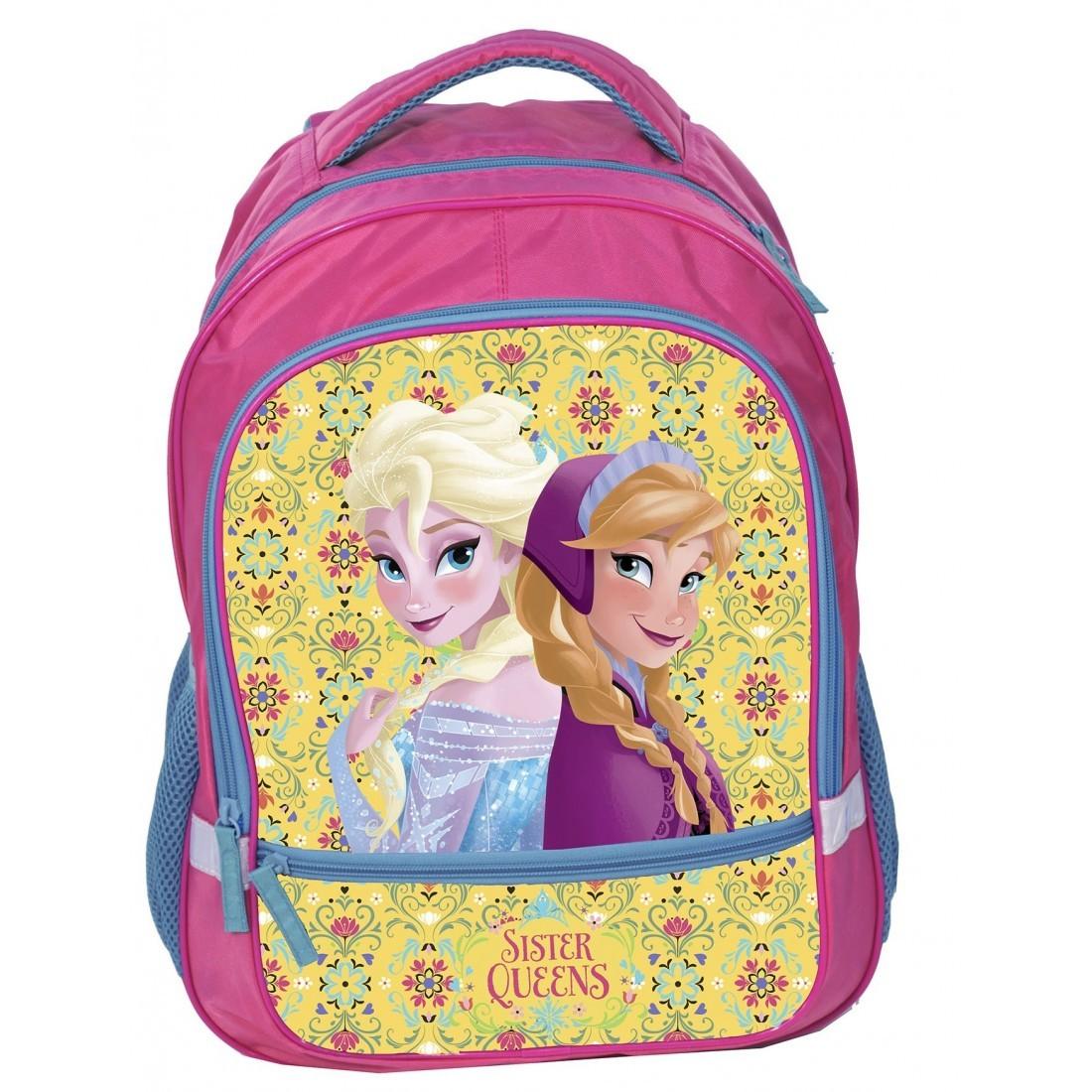 Plecak Frozen różowo żółty - plecak-tornister.pl