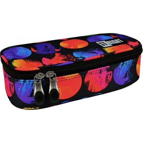 Piórnik / etui XL ST.RIGHT COLOURFUL DOTS kolorowe kulki w bardzo nasyconych barwach dla dziewczyny