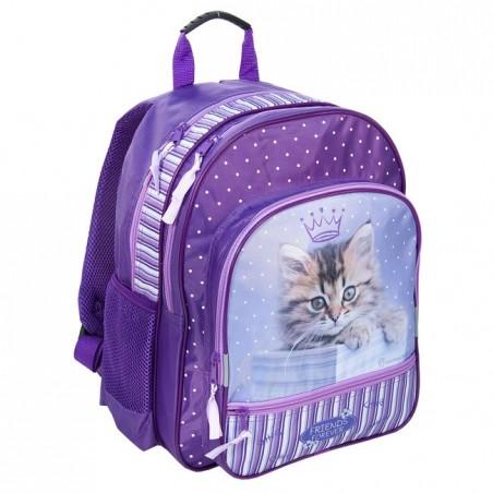 Plecak Szkolny Rachael Hale fioletowy z kotkiem