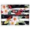 Portfel ST.RIGHT TROPICAL STRIPES kwiat hibiskusa - NW2