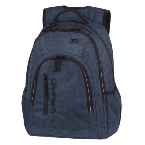Plecak szkolny na laptop granatowy denim CoolPack CP MERCATOR PLUS SNOW BLUE / SILVER
