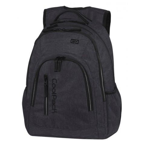 Plecak szkolny na laptop grafitowy / czarny CoolPack CP MERCATOR PLUS SNOW BLACK / SILVER