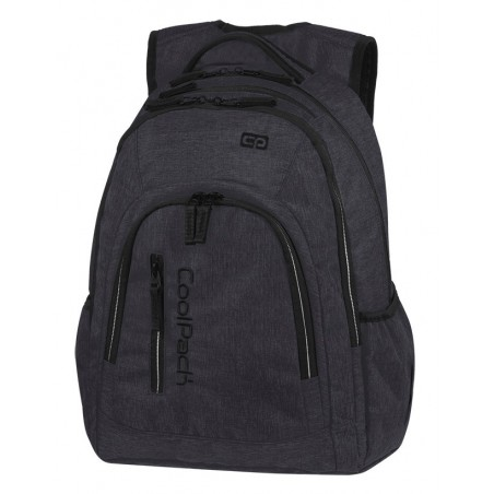Plecak szkolny na laptop CoolPack CP MERCATOR PLUS SNOW BLACK SILVER grafitowy czarny A326