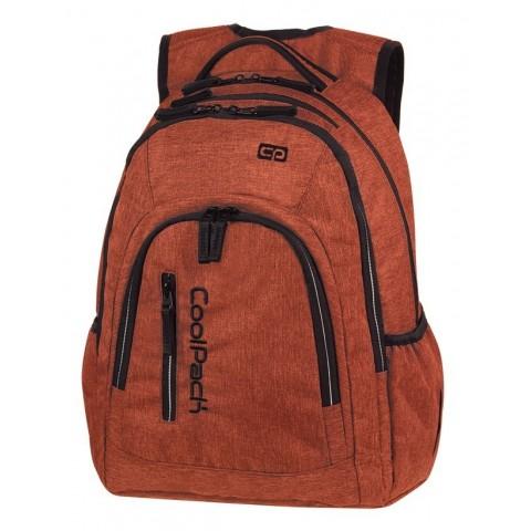Plecak szkolny na laptop miedziany CoolPack CP MERCATOR PLUS SNOW BRICKY / SILVER