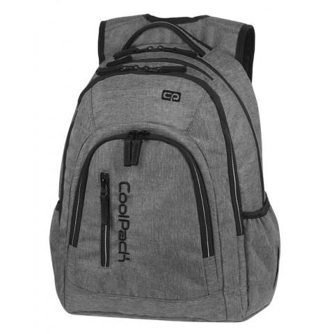 Plecak szkolny na laptop szary CoolPack CP MERCATOR PLUS SNOW GREY / SILVER