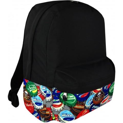 Plecak miejski ST.RIGHT BOTTLE CAPS czarny kapsle na laptopa dla chłopaka