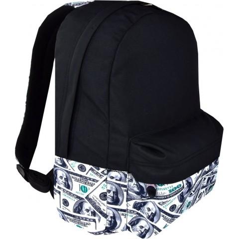 Plecak miejski ST.RIGHT DOLLARS czarny dolary na laptopa młodzieżowy