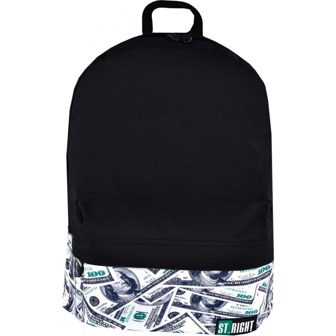 6f632a71370de RIGHT DOLLARS czarny dolary na laptopa młodzieżowy · Plecak miejski ST.RIGHT  DOLLARS czarny dolary na laptopa młodzieżowy ...