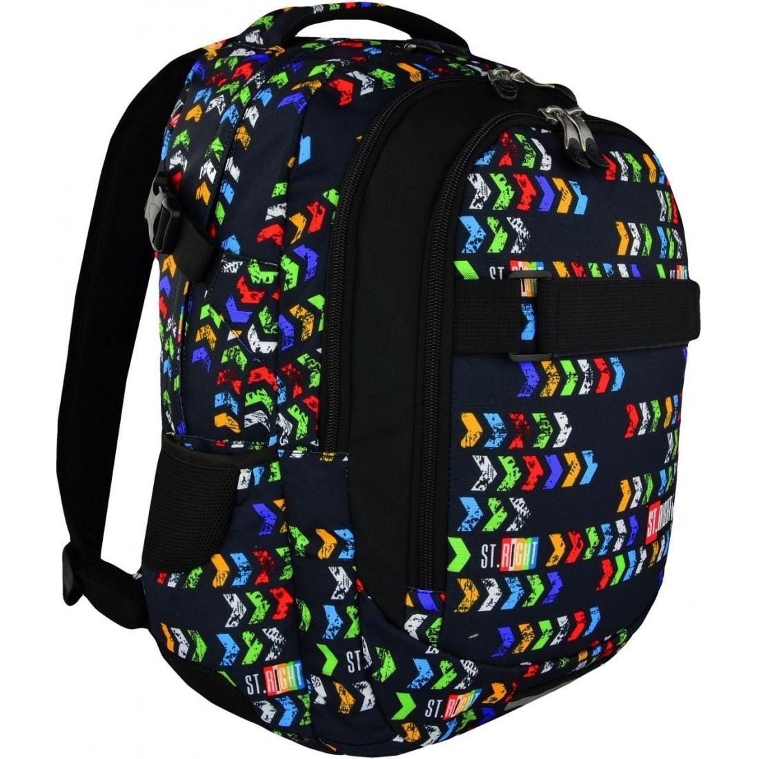 c245e44a93192 Plecak o dużych rozmiarach, stworzony dla młodzieży od dwunastego roku  życia - ST.RIGHT ST.ARROWS kolorowe strzałki BP34 – to wyjątkowa propozycja  plecaka ...