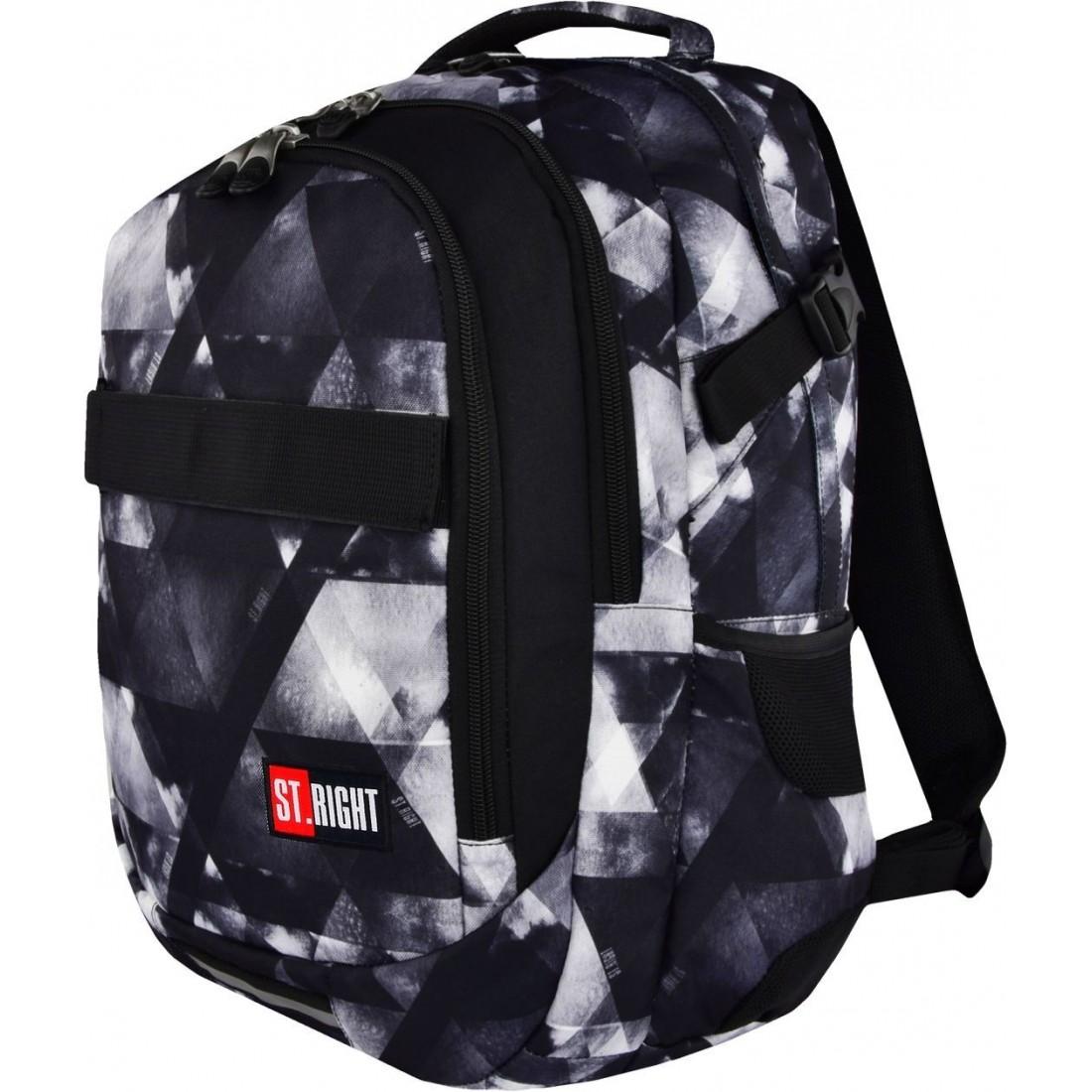2f31aa29b1a61 Plecak młodzieżowy ST.RIGHT WATERCOLOUR szare cienie BP34 - duży i pojemny  plecak w stonowanych barwach idealny dla chłopaka, który przedkłada  klasyczne ...
