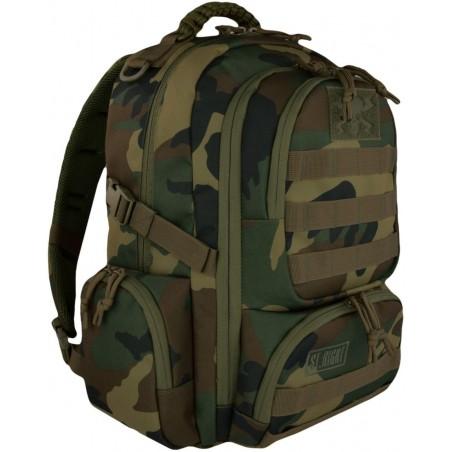 Plecak camo 30 l. MILITARY WOODLAND COMO klasyczne moro, plecak taktyczny, ST.RIGHT - BP36