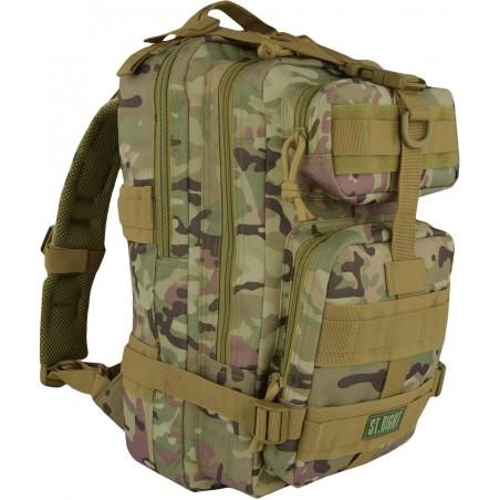 Plecak camo 25 l. MILITARY MULTI COMO mały plecak turystyczny, plecak taktyczny moro, ST.RIGHT - BP43