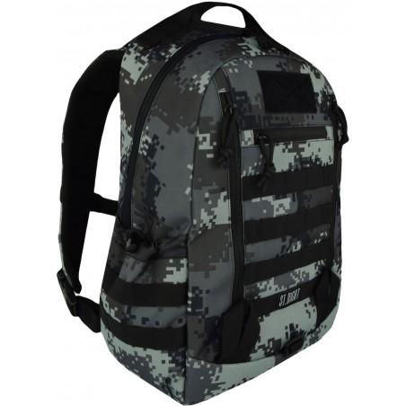 Plecak camo 25 l. MILITARY szare piksele, plecak taktyczny, moro, ST.RIGHT - BP39