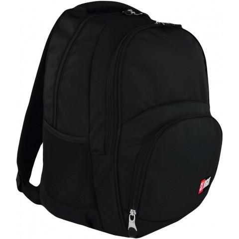 Plecak szkolny ST.RIGHT ST.BLACK 2-komory czarny dla ucznia młodzieżowy klasyk