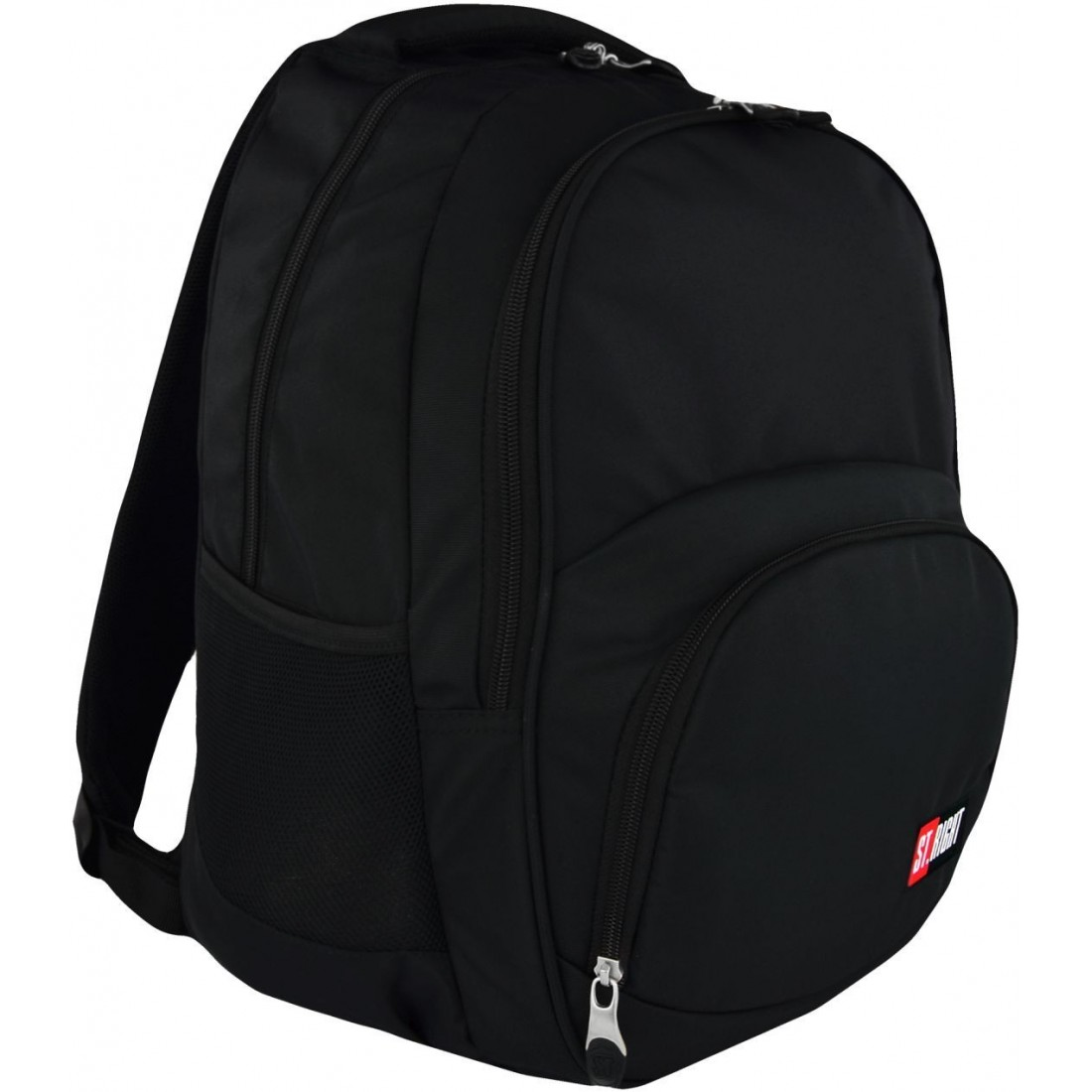 Plecak szkolny ST.RIGHT ST.BLACK 2 komory czarny BP23