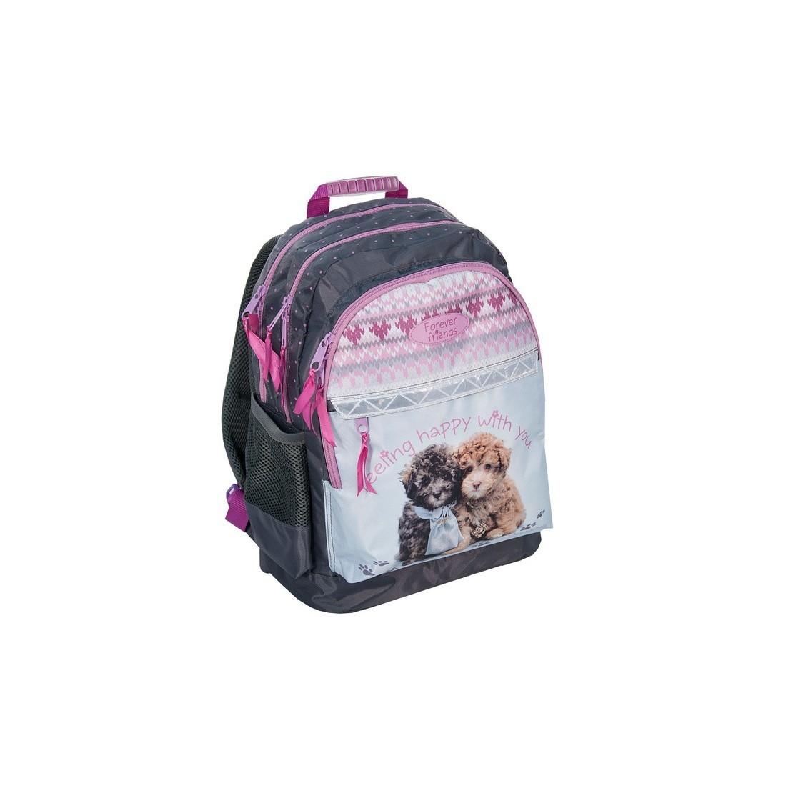 Plecak szkolny Rachael Hale z dwoma pieskami - plecak-tornister.pl